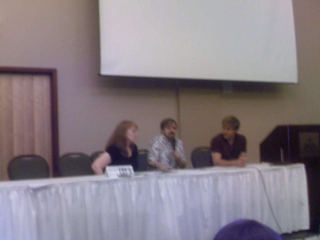 The one, blurry pic sent to me....Me, Larry Nemeck, and Vic Mignogna.
