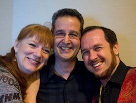 Taken by Jim C. Hines. Me, John DeNardo (SF SIGNAL), and Marshall Maresca