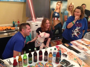 Tugg TOTALLY STOLE the show - with the Rocket Fizz folk.