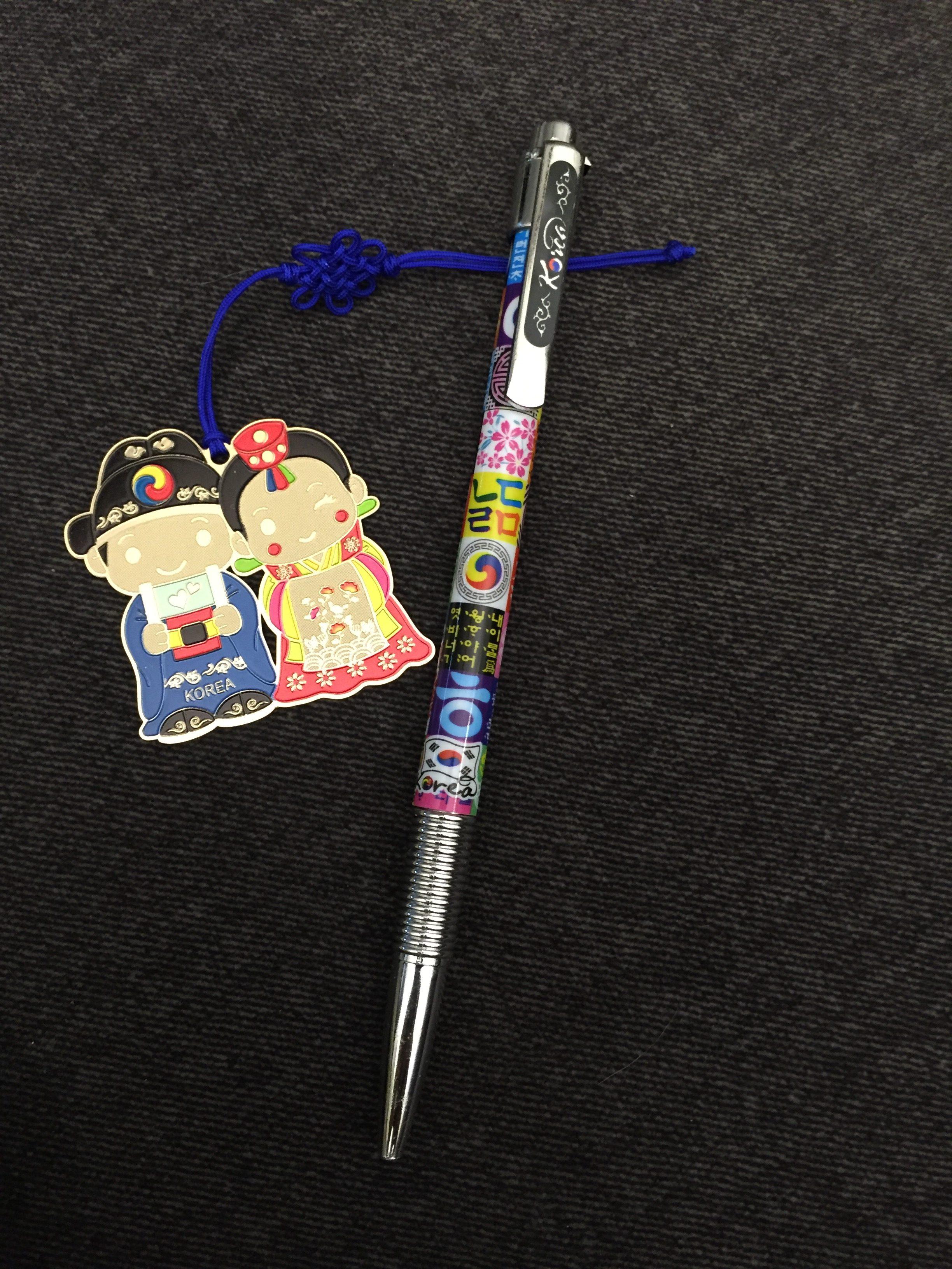 pen pencil review korean souvenir ballpoint pen and metal bookmark rhonda eudaly