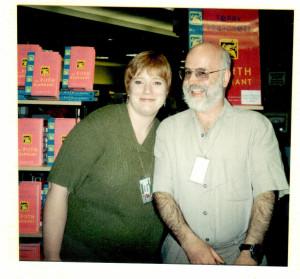 Me with Terry Pratchett - AggieCon 2000.