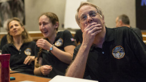 A NASA released photo I grabbed from the WSJ. The emotion is beautiful.